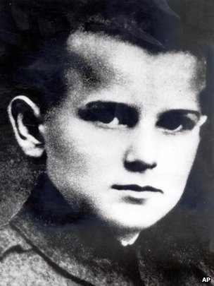 Pope John Paul II as a child