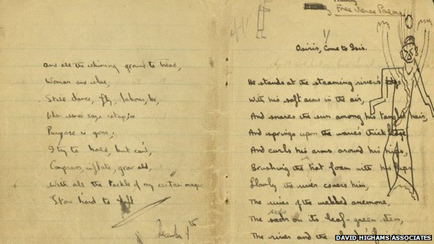 A Dylan Thomas notebook from 1930