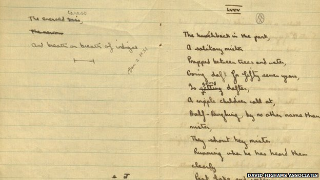 A Dylan Thomas notebook from 1932
