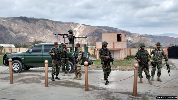 Security escort in Jandora, South Waziristan, Pakistan April 2014