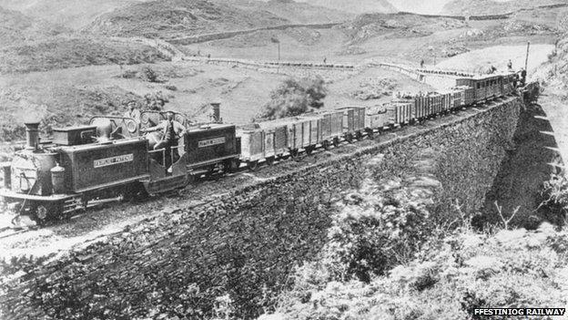 Ffestiniog railway in 1871