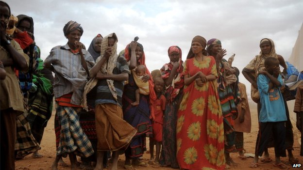 Somalis seeking refuge in Ethiopia in 2011 during the famine