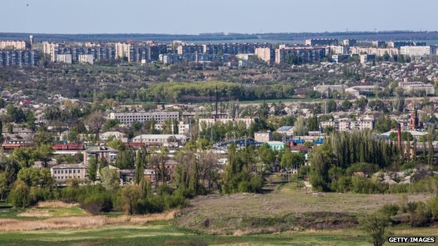 View of Sloviansk (25 April 2014)