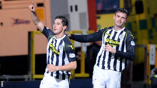 Kenny McLean equalised for St Mirren from the penalty spot