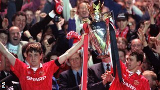 Bryan Robson and Steve Bruce