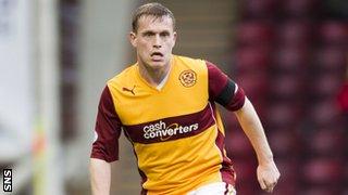 Motherwell left-back Stevie Hammell