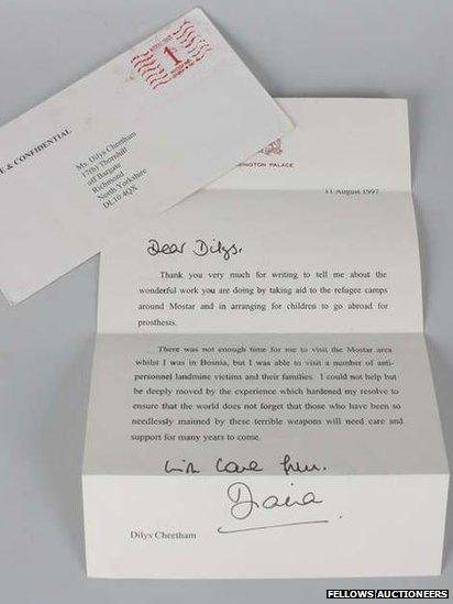 Princess Diana's last letter