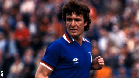 Sandy Jardine playing for Rangers
