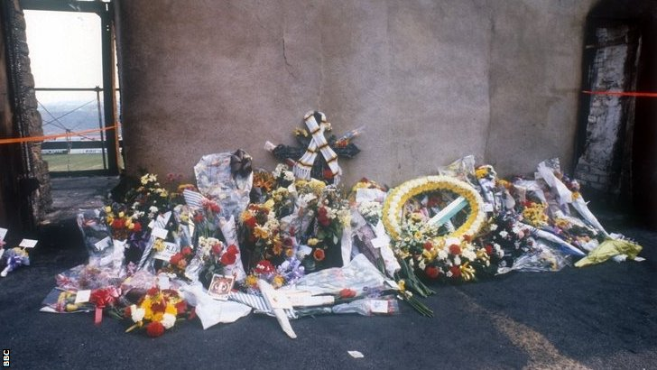 Valley Parade floral tribute in 1985