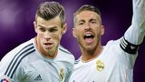 Real Madrid's Gareth Bale and Sergio Ramos