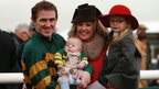 AP McCoy with wife Chanelle, daugher Eve and son Archie Peadar (AP)