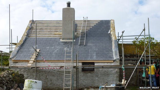 Lockley cottage under restoration