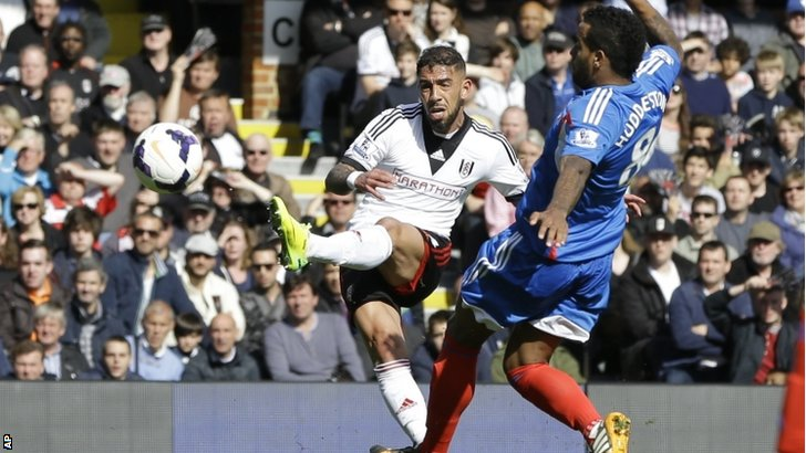 Ashkan Dejagah scores a goal against Hull City