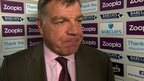 West Ham manager Sam Allardyce says his side cannot keep wasting chances and says their poor finishing is why they have lost four games in a row.