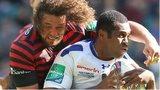 Man of the match Jacques Burger tackles Clermont's Sitiveni Sivivatu