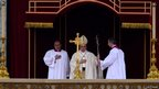 Pope Francis leads the canonisation mass in which John Paul II and John XXIII are to be declared saints on April 27