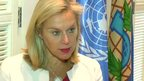 Sigrid Kaag, head of the joint team from the  United Nations and the Organisation for the Prohibition of Chemical Weapons