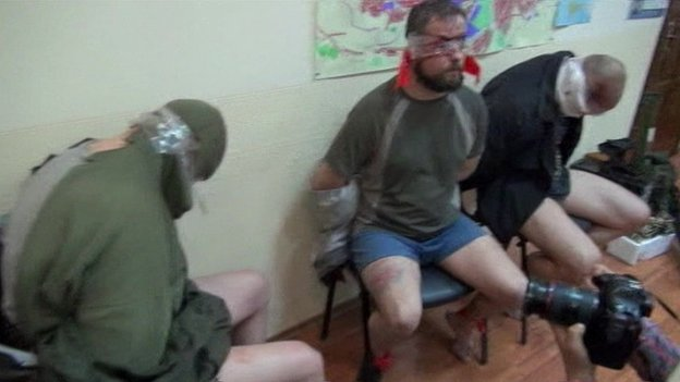 The alleged seized Ukrainian security service members