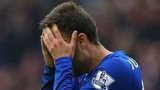Juan Cala holds his head in his hands after being sent off against Sunderland