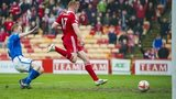 Adam Rooney scores for Aberdeen against St Johnstone