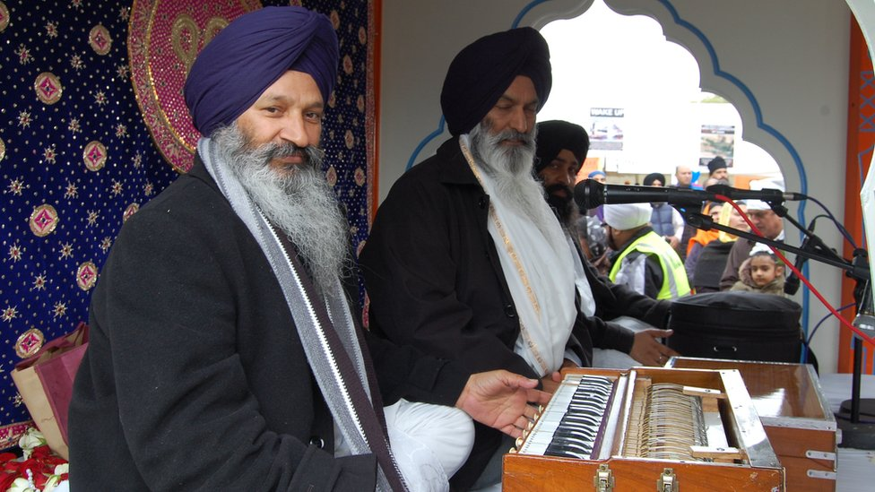 Musicians in Vaisakhi celebrations