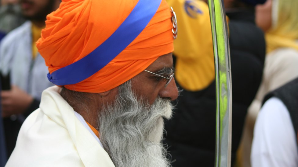 Man at Vaisakhi celebrations