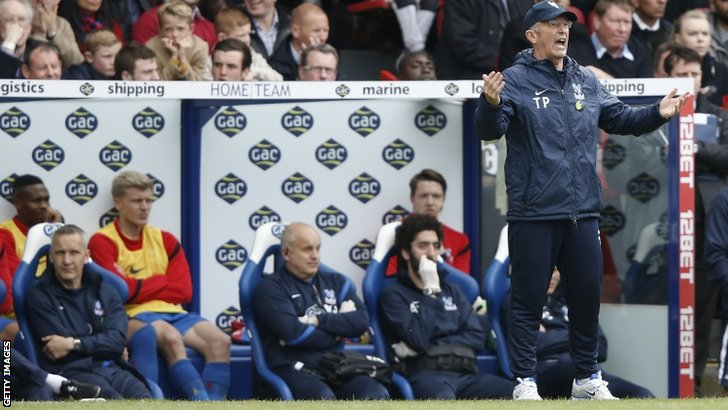 Crystal Palace's Welsh manager Tony Pulis