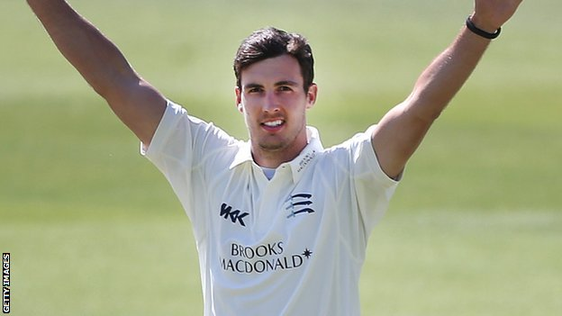 Middlesex and England fast bowler Steven Finn