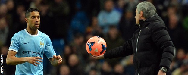 Chelsea manager Jose Mourinho and Manchester City defender Gael Clichy