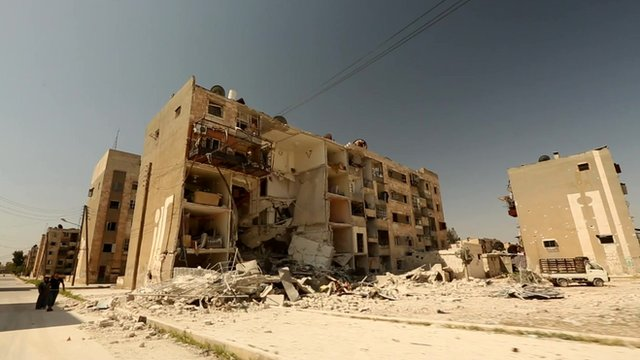 Devastating effects of air bombardment on Aleppo