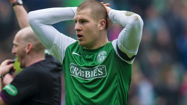 Hibernian striker James Collins