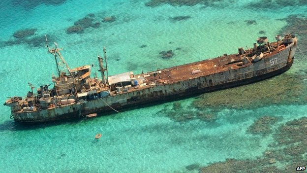 rusting vessel via BBC news