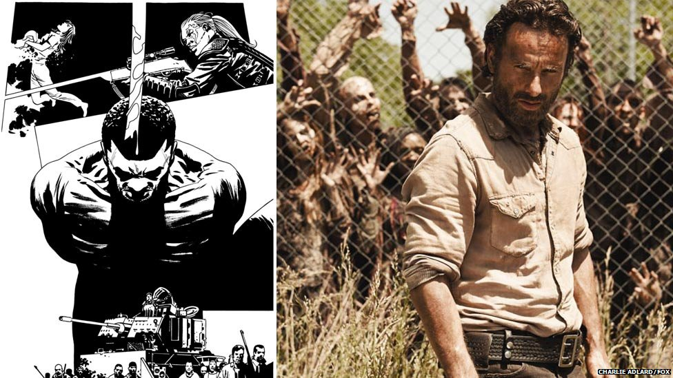 Charlie Adlard art and The Walking Dead TV series