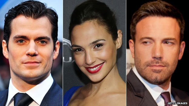 Henry Cavill, Gal Gadot and Ben Affleck