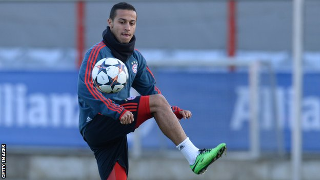Thiago Alcantara of Bayern Munich and Spain