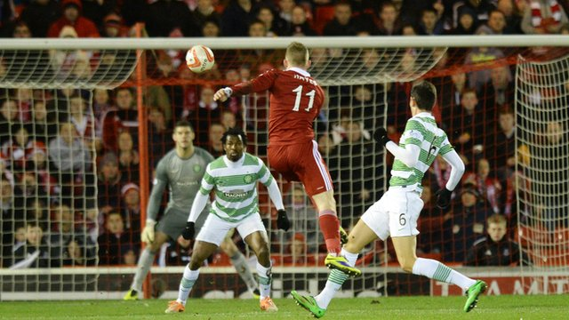 Jonny Hayes thumps in PFA Scotland's goal of the season