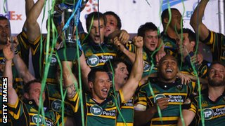 Northampton lift the Challenge Cup in 2009