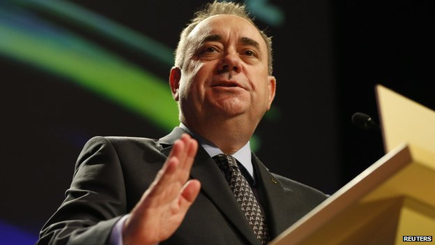 Scottish First Minister Alex Salmond - file pic