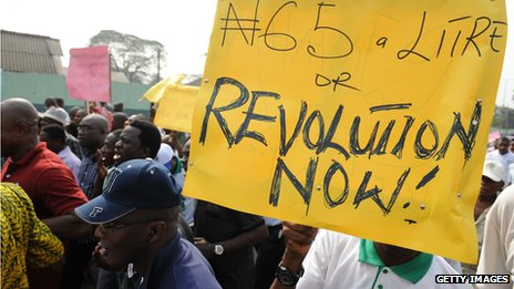 Fuel price protest in Nigeria