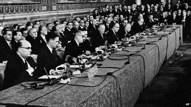 Treaty of Rome signing