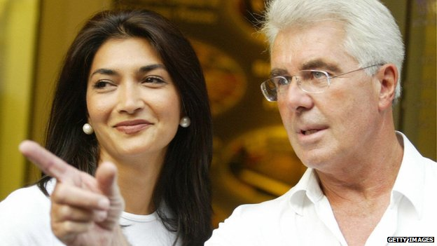 Faria Alam and Max Clifford