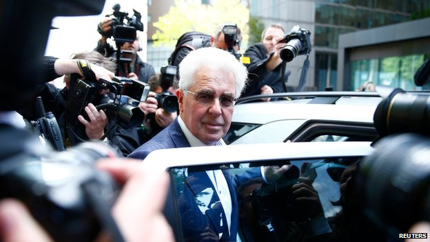 Max Clifford leaving court