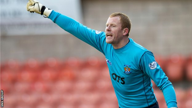 Kilmarnock goalkeeper Craig Samson