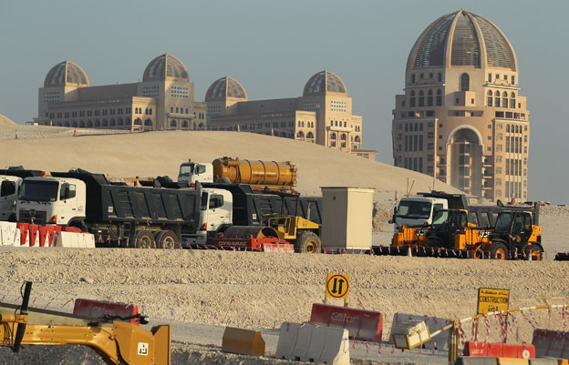 Construction work in Doha