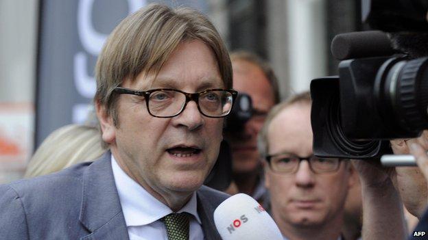 ALDE's Guy Verhofstadt - file pic