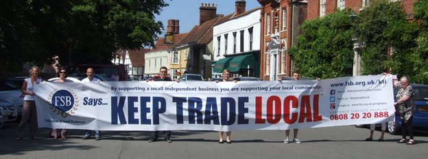 Keep Trade Local campaign last year in Dedham
