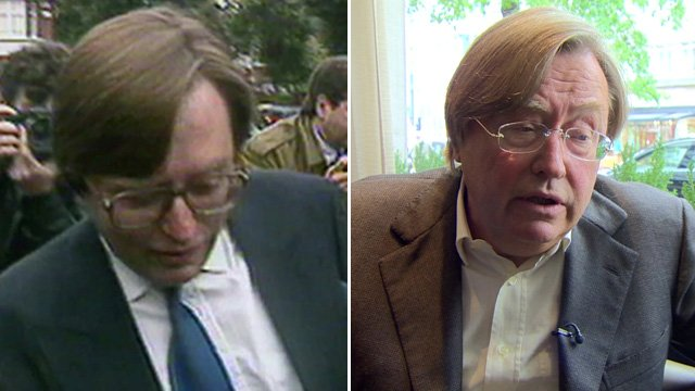 David Mellor in 1992, and today