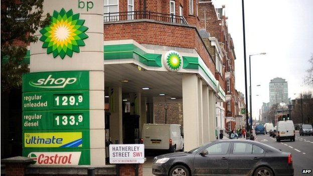 BP petrol station in London