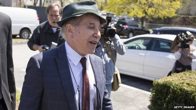 Paul Simon outside court
