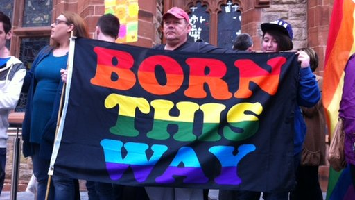 A rally in favour of same-sex marriage was held in Londonderry on Monday evening